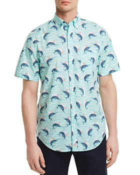 Vineyard Vines - Marlin Print Regular Fit Button-Down Shirt