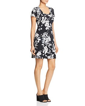 Robert Michaels - Floral-Print Tee Dress