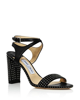 Jimmy Choo - Women's Marine 85 Micro-Studded Leather High-Heel Sandals
