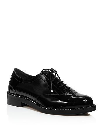abc870af56e Jimmy Choo Women s Reeve Crystal-Trimmed Patent Leather Oxfords ...