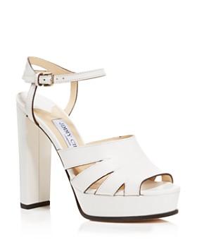 Jimmy Choo - Women's Hermione 120 Leather Platform High-Heel Sandals