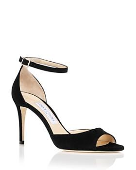 Jimmy Choo - Women's Annie 85 Suede High-Heel Ankle Strap Sandals