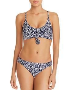 Splendid - Check Please Bralette Bikini Top & Reversible Retro Bikini Bottom