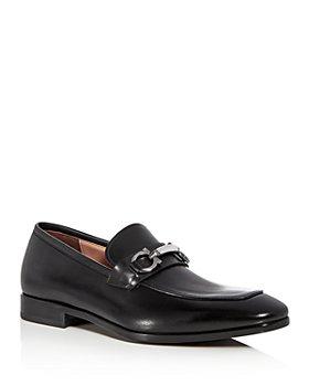 Salvatore Ferragamo - Men's Benford Leather Apron Toe Loafers