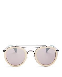rag & bone - Men's 9001 leather wrap sunglasses