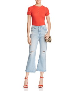 DL1961 - Wallace Vintage High Rise Crop Flare Jeans in Lost River
