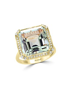 Bloomingdale's Green Amethyst & Diamond Statement Ring in 14K Yellow Gold - 100% Exclusive _0
