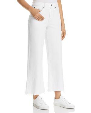 1.state Released-Hem Wide-Leg Jeans in Ultra White 2952256