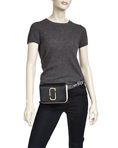 MARC JACOBS - Hip Shot Leather Convertible Belt Bag