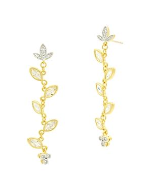Freida Rothman Fleur Bloom Linear Drop Earrings