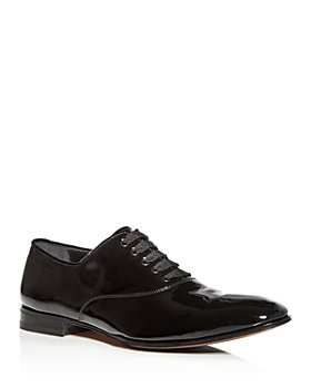 Salvatore Ferragamo - Men's Belshaw Patent Leather Plain-Toe Oxfords