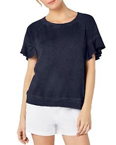 Michael Stars - Ruffled Short-Sleeve Sweatshirt