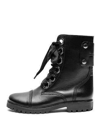 Zadig & Voltaire - Women's Joe Leather Combat Booties