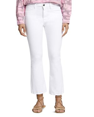Sanctuary Robbie High-Rise Cropped Flared Jeans in White 2967118