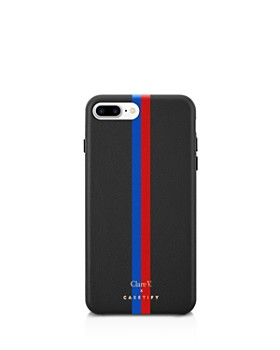 Clare V. - x Casetify Striped Leather iPhone 6/7/8 Plus Case