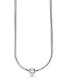 PANDORA Sterling Silver Iconic Snake Chain Charm Necklace - Bloomingdale's_0