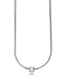 PANDORA - Sterling Silver Iconic Snake Chain Charm Necklace