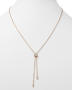 Bloomingdale's - Diamond Flower Bolo Necklace in 14K Rose Gold, 0.85 ct. t.w. - 100% Exclusive