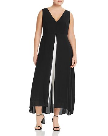 Adrianna Papell Plus - Color-Block Overlay Jumpsuit