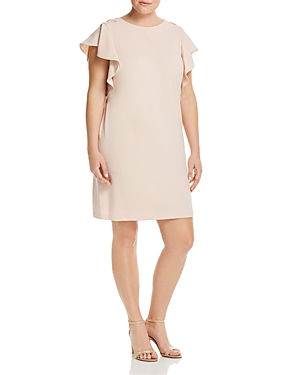 Adrianna Papell Plus Flutter-Sleeve Shift Dress