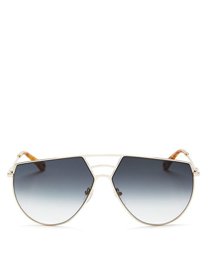 Chloé - Women's Ricky Triple Bridge Gradient Aviator Sunglasses, 62mm