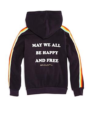 Spiritual Gangster Girls Hooded Rainbow Fleece Sweatshirt  Little Kid Big Kid
