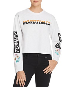 Tommy Jeans - Embroidered Graphic Cropped Tee