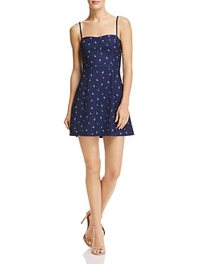 French Connection Whisper Micro Floral Print A-Line Mini Dress