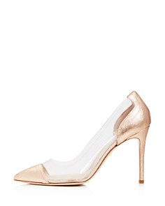 Charles David - Women's Genuine Leather Illusion Pointed Toe Pumps