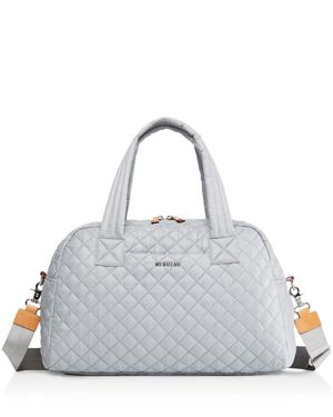 MZ WALLACE Jimmy Bag - Grey in Dove Gray/Silver