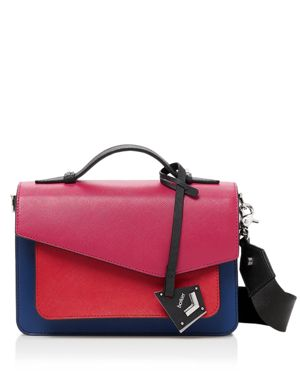 COBBLE HILL COLOR-BLOCK LEATHER CROSSBODY