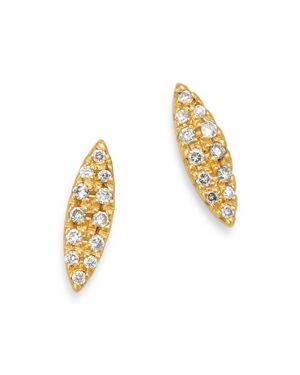 SUEL 18K YELLOW GOLD DIAMOND MARQUISE EARRINGS