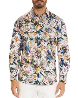 Robert Graham Botanical Print Regular Fit Button-Down Shirt 2852096