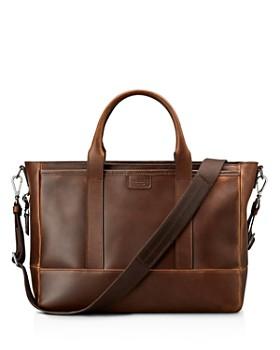 Shinola - Navigator Distressed Leather Briefcase Tote