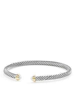 New David Yurman Cable Kids Birthstone Bracelet With Cultured Freshwater Pearls & 14K Gold, Bracelets, White/Multi