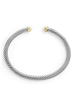 David Yurman - Cable Kids Birthstone Bracelet with Cultured Freshwater Pearls & 14K Gold