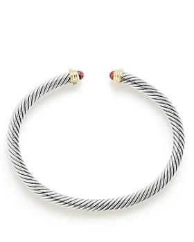 David Yurman - Cable Kids Birthstone Bracelet with Garnet & 14K Gold