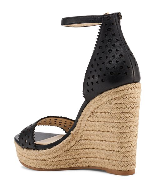 19a1dc36af6 Botkier - Women s Jamie Perforated Leather Espadrille Wedge Sandals