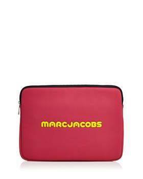 마크 제이콥스 네오프렌 로고 13인치 랩탑 케이스 - 핑크 (아이패드, 맥북 전용 파우치) Marc Jacobs Neoprene Logo 13 Laptop Case,Pink/Black