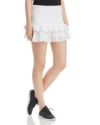 kate spade new york - Tiered Eyelet Ruffle Skirt