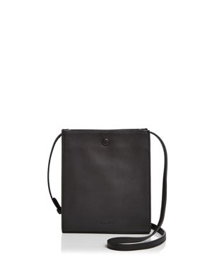 Camden Metallic Leather Crossbody Bag in Black