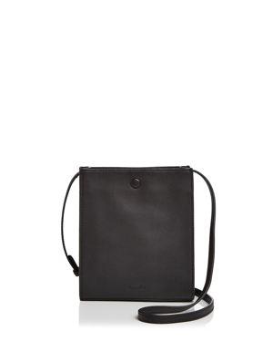 Camden Metallic Leather Crossbody Bag, Blacksilver
