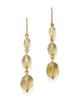 Bloomingdale's - Lemon Quartz Triple Drop Earrings in 14K Yellow Gold - 100% Exclusive