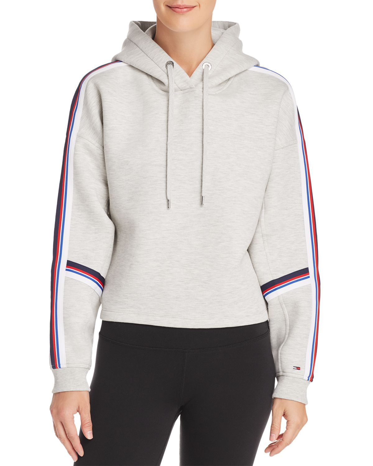 Striped Trim Hooded Sweatshirt  by Tommy Jeans