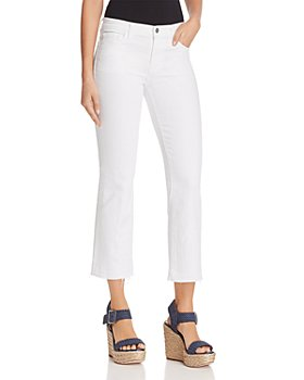 J Brand - Selena Mide Rise Crop Bootcut Jeans in Blanc