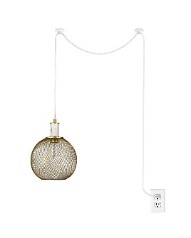 cupcakes and cashmere - Mesh Swag Marble Pendant Lamp