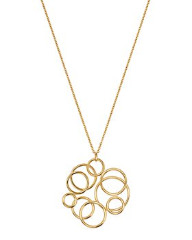 """Bloomingdale's - Polished Circle Cluster Pendant Necklace in 14K Yellow Gold, 17.75"""" - 100% Exclusive"""