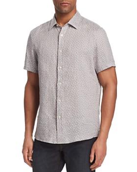 Michael Kors - Kite-Print Linen Button-Down Shirt