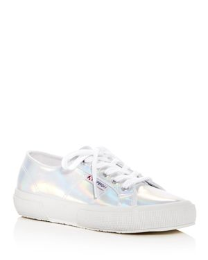 SUPERGA Women'S Cotu Classic Hologram Lace Up Sneakers in Iridescent