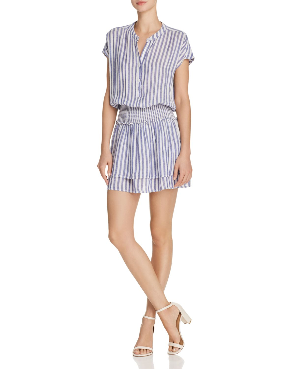 Angelina Striped Drop Waist Dress by Rails